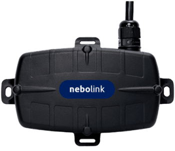 Small black electronic boat tracking device called nebolink